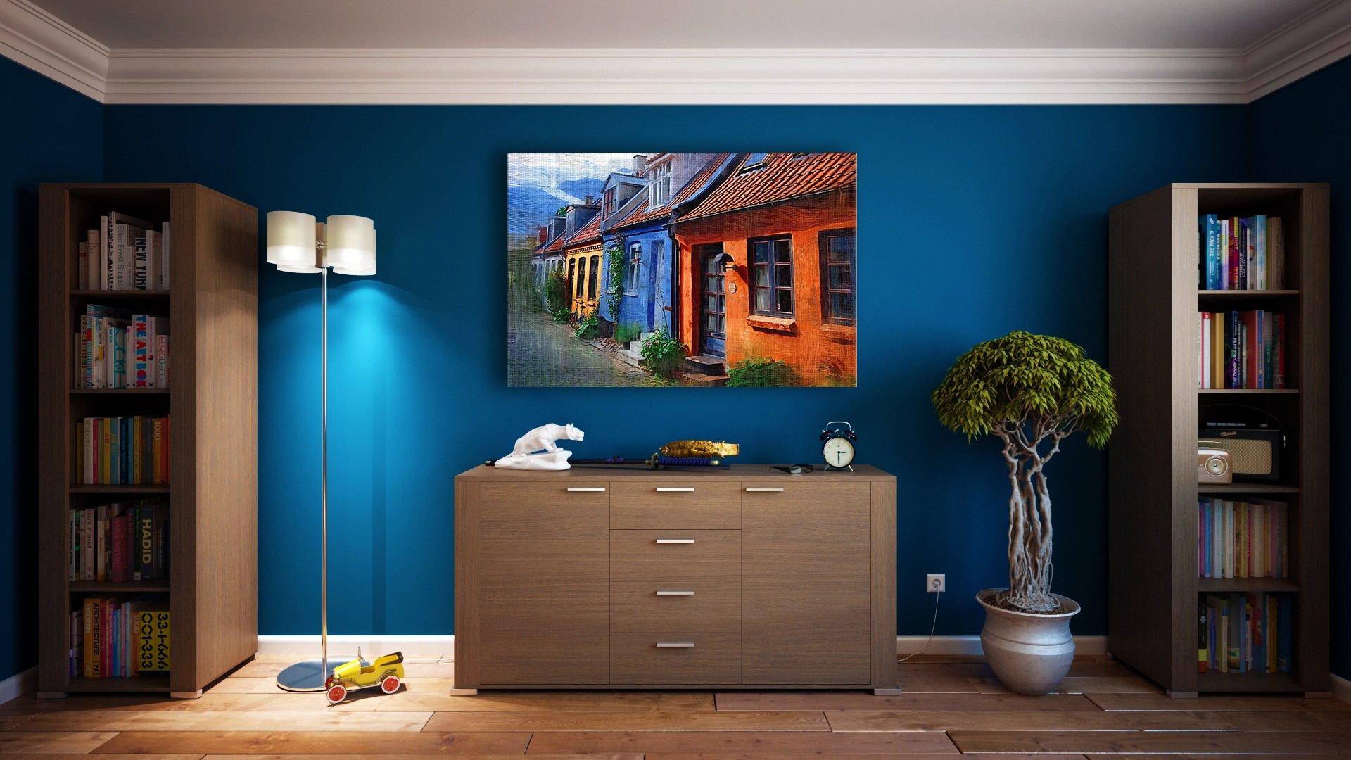 Room with cornice